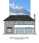 Almost up-to-date impression of the north elevation.