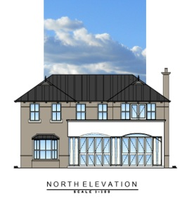 The North Elevation is now becoming a reality.