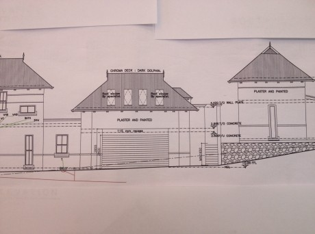 Original plan showing Velux skylights in guest suite.  The cottage has similar skylights on the northern roof face.