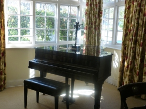 Piano in the dining room will have to go into storage.