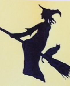 Witch on brookstick