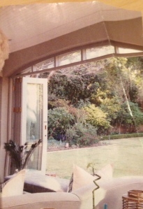 Example of completed stacking patio doors.