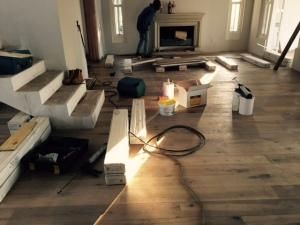 Downstairs flooring.