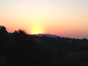 Johannesburg winter sunset from Westcliff.