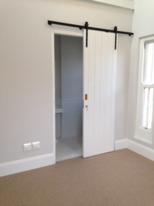 Barn sliding door in bedroom 3