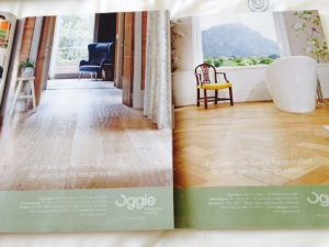 Magazine Advertisement for Oggie Floors.